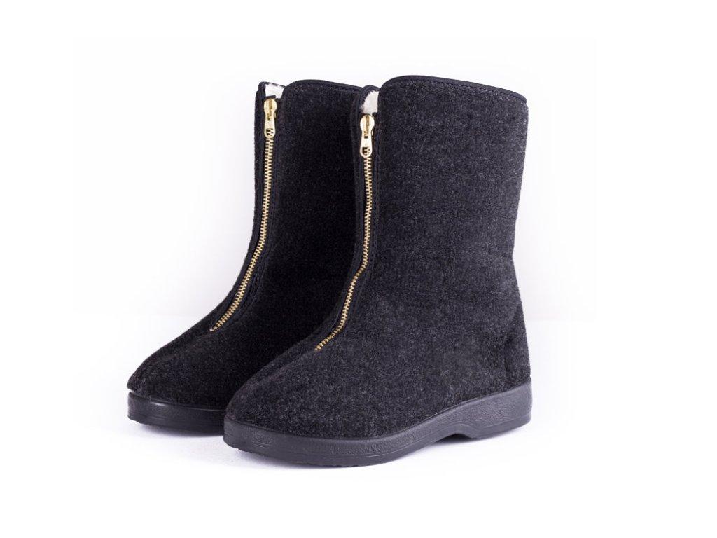 Dámské boty DŮCHODKY (Barva černá, Velikost 42)
