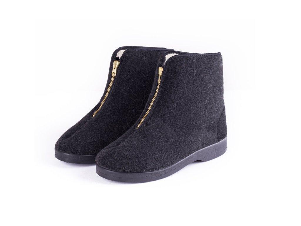 Pánské boty DŮCHODKY (Barva černá, Velikost 48)