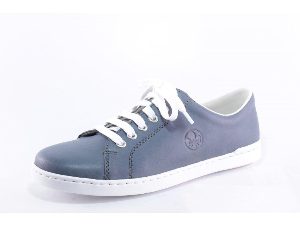 Dámské boty Rieker kožené DC L2710-10 (Barva Modrá, Velikost 42)