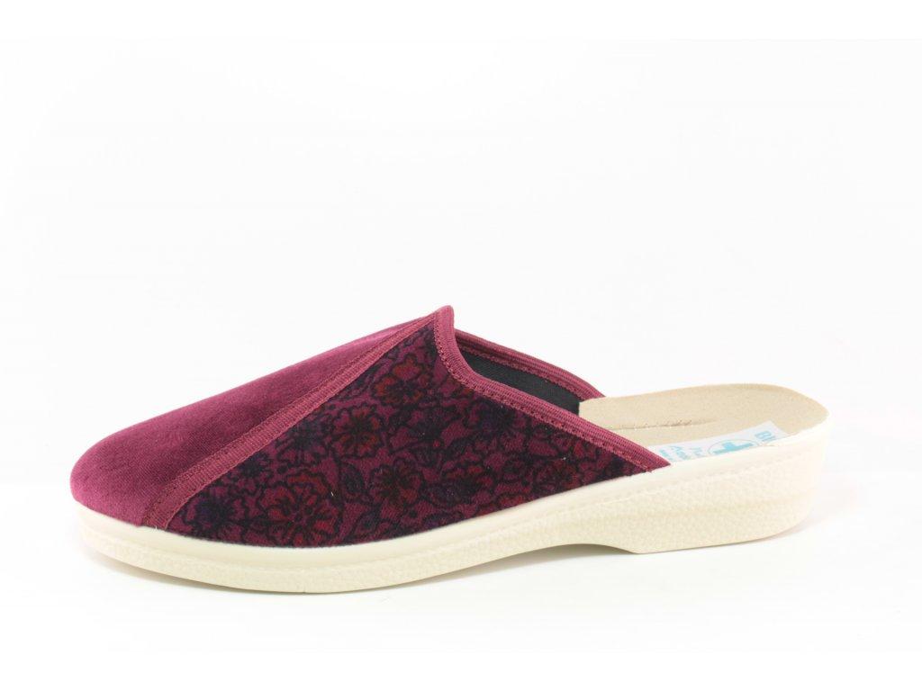 Dámské pantofle Adanex DD 25140 AKCE (Barva bordó, Velikost 42)