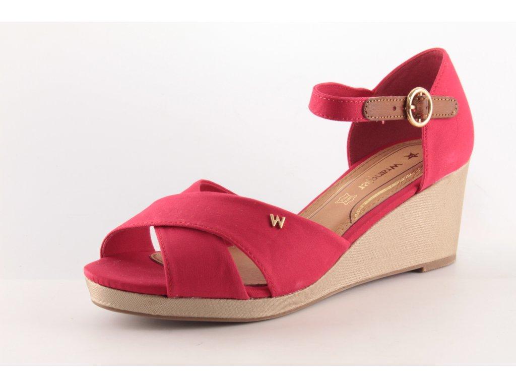 Dámské sandály Wrangler DL WL01520A AKCE (Barva červená, Velikost 41)