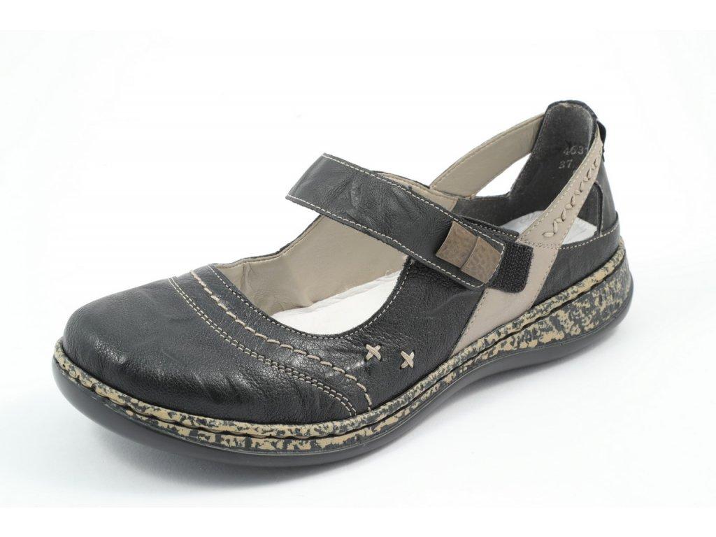Dámské boty Rieker DC 46378-00 (Barva černá, Velikost 42)