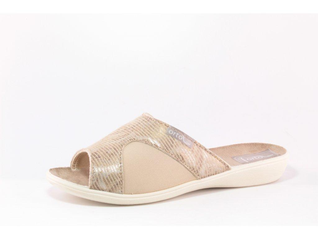 Dámské pantofle Adanex DD 24877 na HALUXY (Barva béžová, Velikost 41)