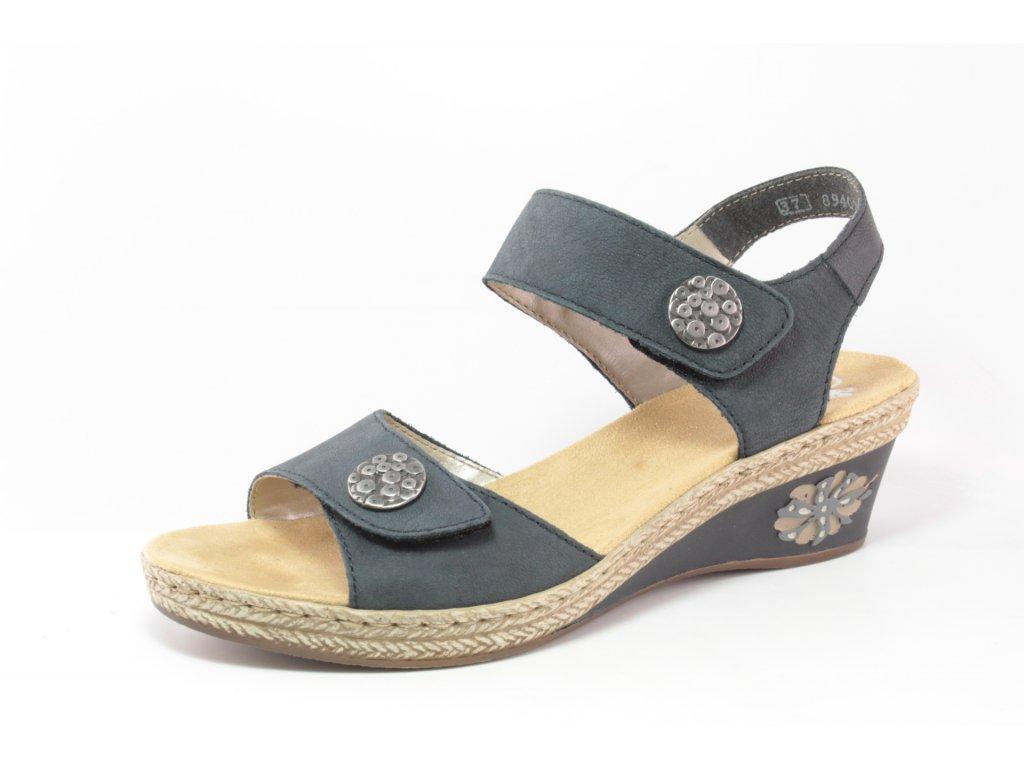 Dámská obuv letní Rieker DL V24B9-14 (Barva Modrá, Velikost 41)