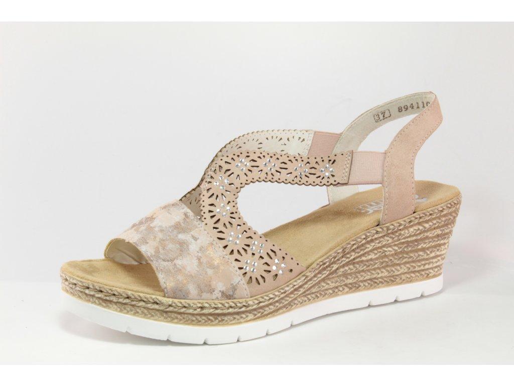 Dámská obuv letní Rieker DL 61916-31 (Barva růžová, Velikost 41)