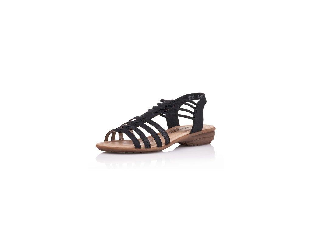 Dámská letní obuv Rieker R3630-01 Remonte (Barva černá, Velikost 42)