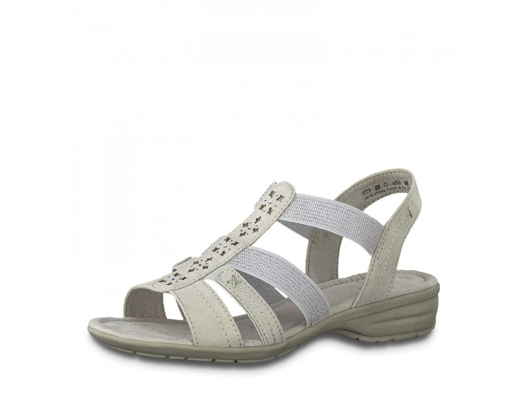 Dámské boty letní Jana DL 8-28163/24 jemně šedé (Barva šedá, Velikost 42)