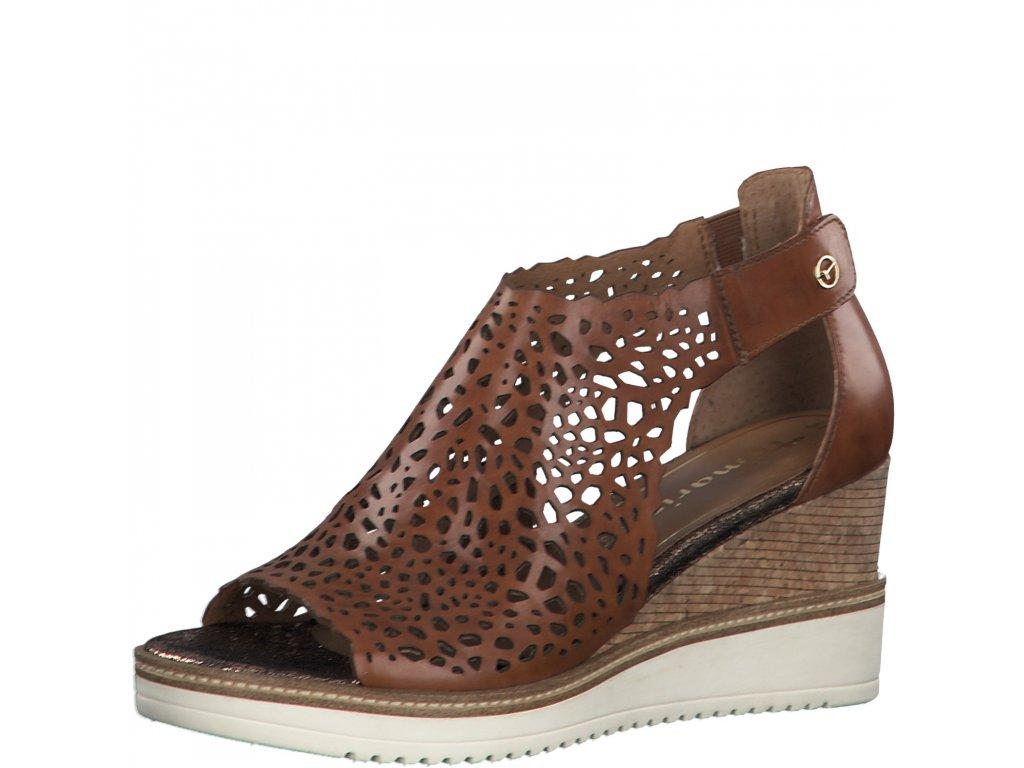 Dámské sandály Tamaris DL 1-28316/24 kožené (Barva hnědá, Velikost 41)