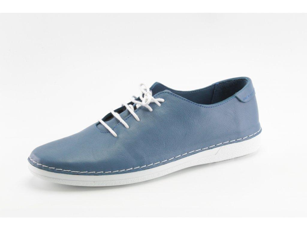 Dámské boty celoroční DESKA DC 35705 modré kožené (Barva Modrá, Velikost 41)