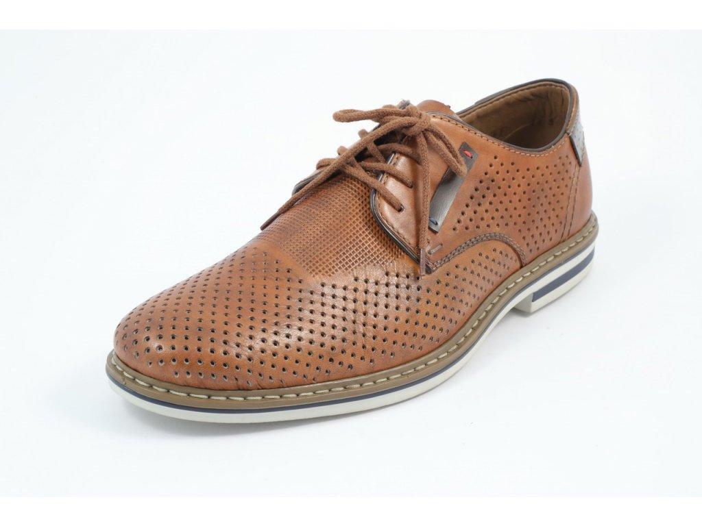 Pánské boty Rieker PC B14C5-24 KOŽENÉ (Barva hnědá, Velikost 46)