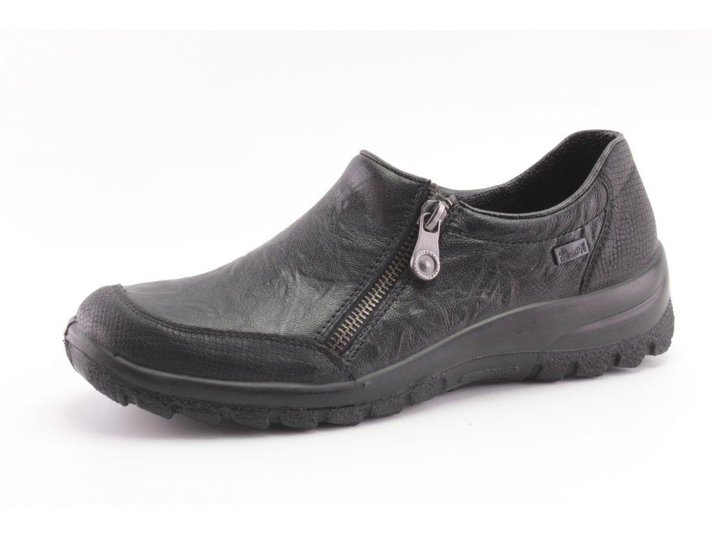 Dámské boty celoroční Rieker DC L7152-00 KOŽENÉ (Barva černá, Velikost 42)