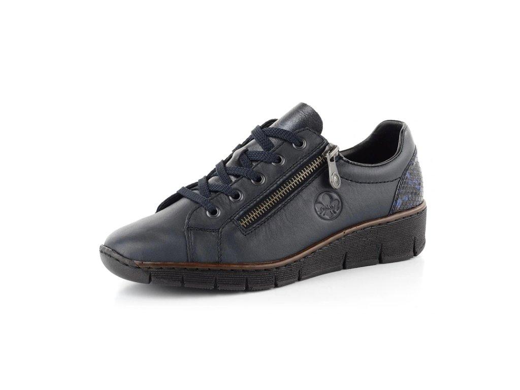 Dámské boty Rieker DC 53702-14 temně modré (Barva Modrá, Velikost 41)