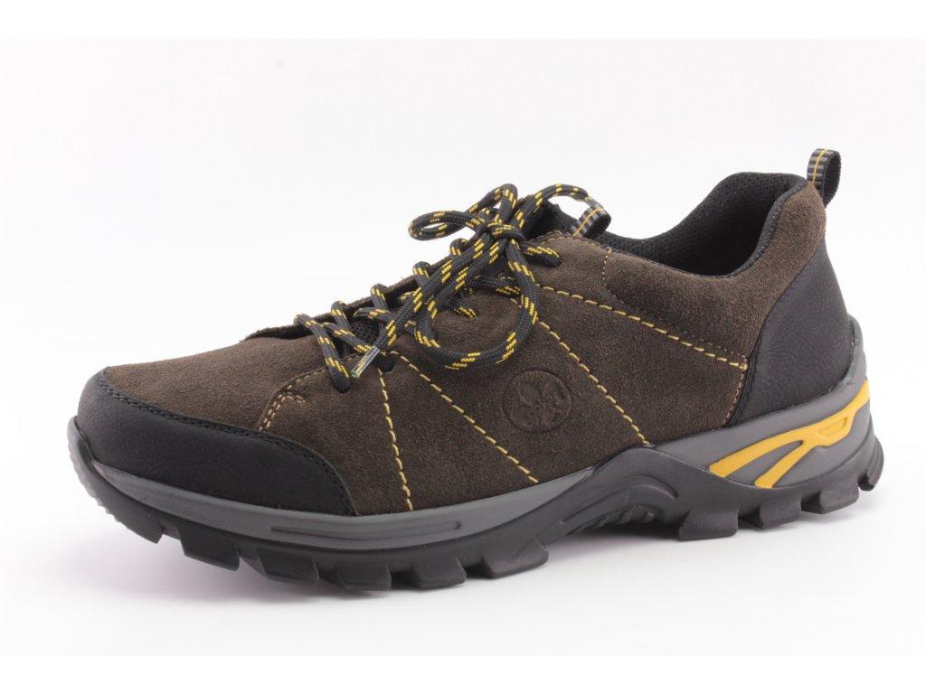Pánské boty Rieker PC B6820-01 kožené vel. 41-47 (Barva hnědá, Velikost 47)