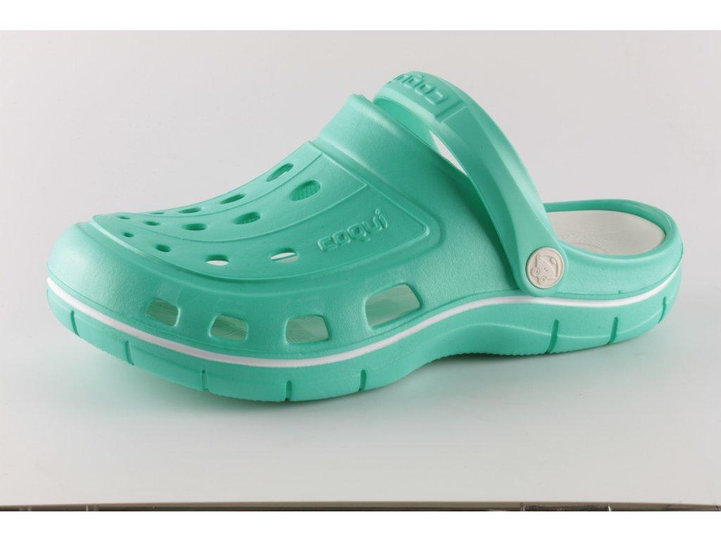 Dámské kroksy COQUI 6352/51 zelené (Barva Zelená, Velikost 42)