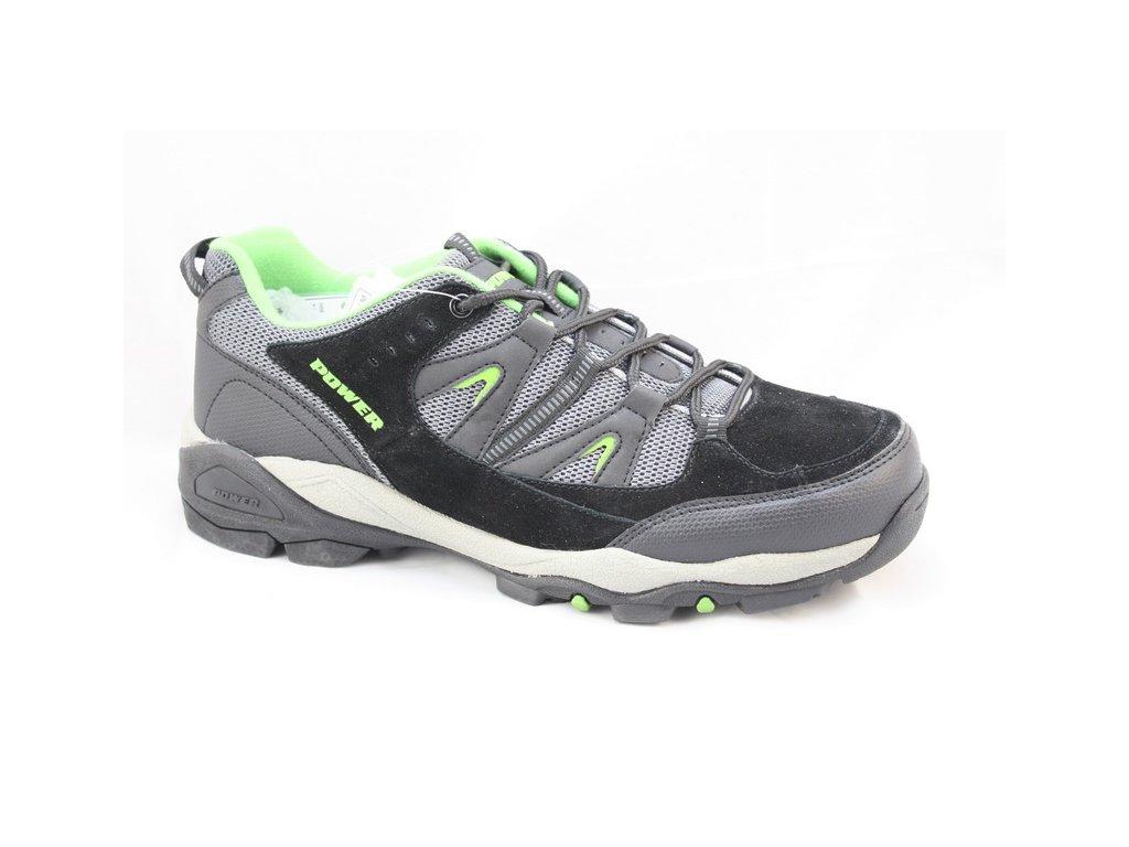 Pánská outdoorová obuv Power POW601M (Barva černá, Velikost 45)