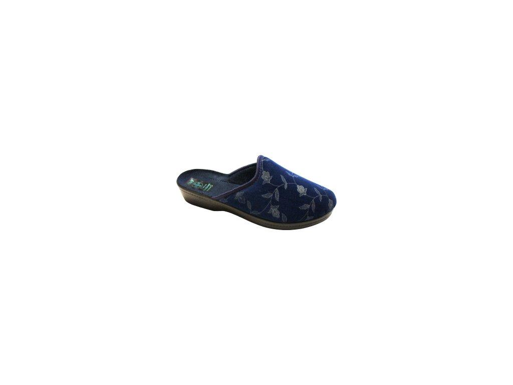 Dámské pantofle Adanex 18567-CENOVÁ BOMBA!! (Barva Modrá, Velikost 36)
