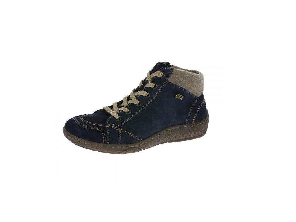 Dámská obuv Rieker D3887-15 (Barva Modrá, Velikost 43)