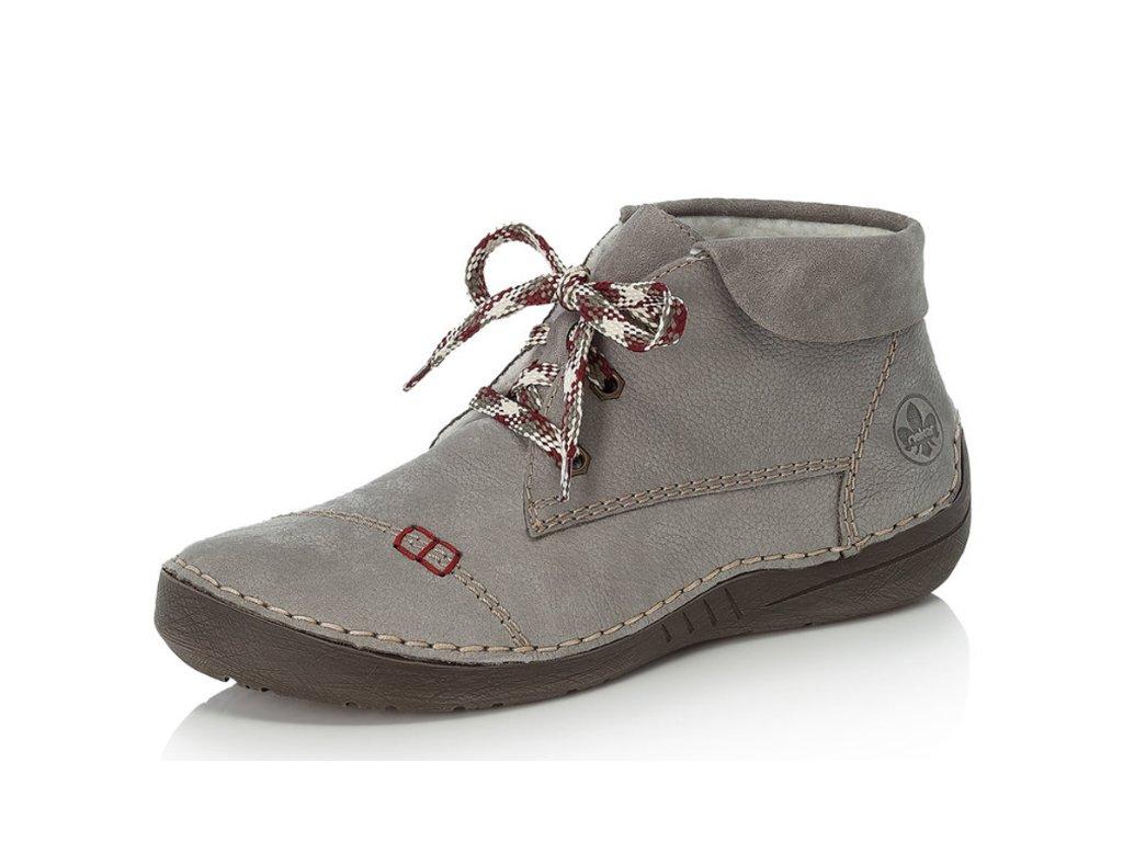 Dámské zimní boty Rieker 52524-41 šedé (Barva šedá, Velikost 42)