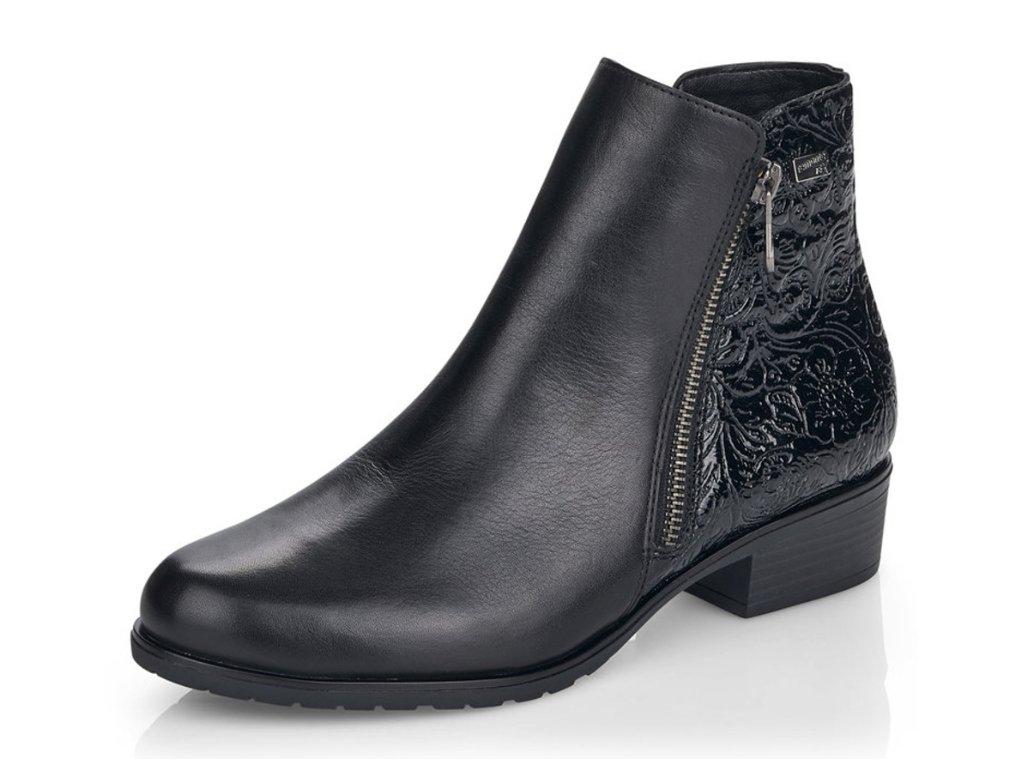 Dámské zimní boty  Rieker Remonte D6871-01 kožené (Barva černá, Velikost 43)