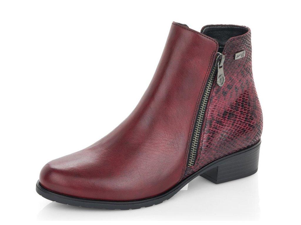 Dámská zimní obuv Rieker Remonte D6871-35 bordó (Barva bordó, Velikost 40)