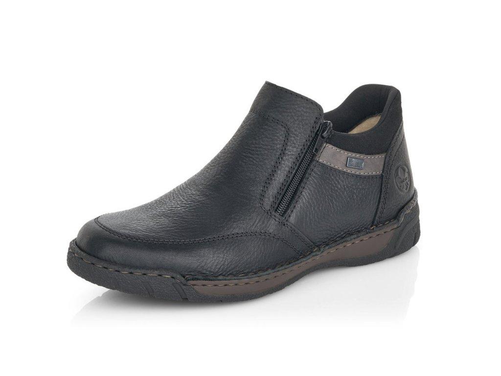 Pánské zimní boty Rieker B0372-00 kožené (Barva černá, Velikost 46)