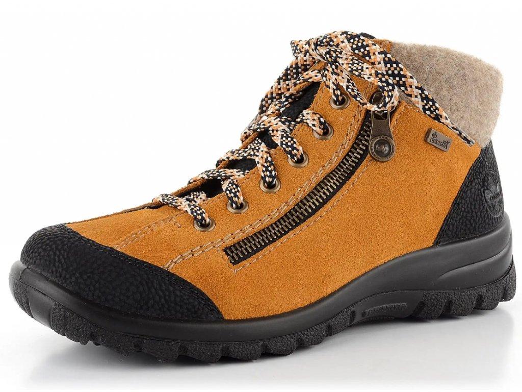 Dámské zimní boty Rieker L7132-00 (Barva žlutá, Velikost 41)