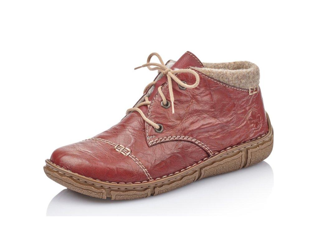 Dámské zimní boty Rieker L3742-36 (Barva červená, Velikost 42)