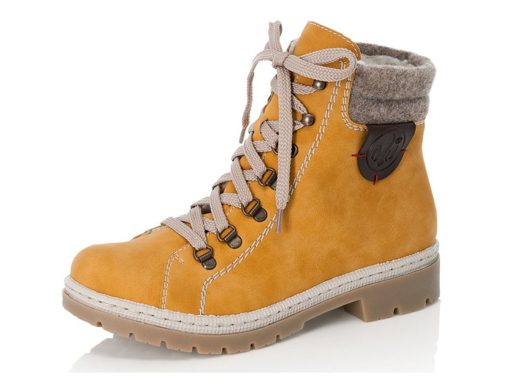 Dámské zimní boty Rieker DZ Y9430-68 žluté