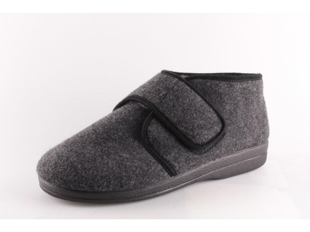Pánské pantofle Adanex PD 11898 zateplené (Barva černá, Velikost 46)