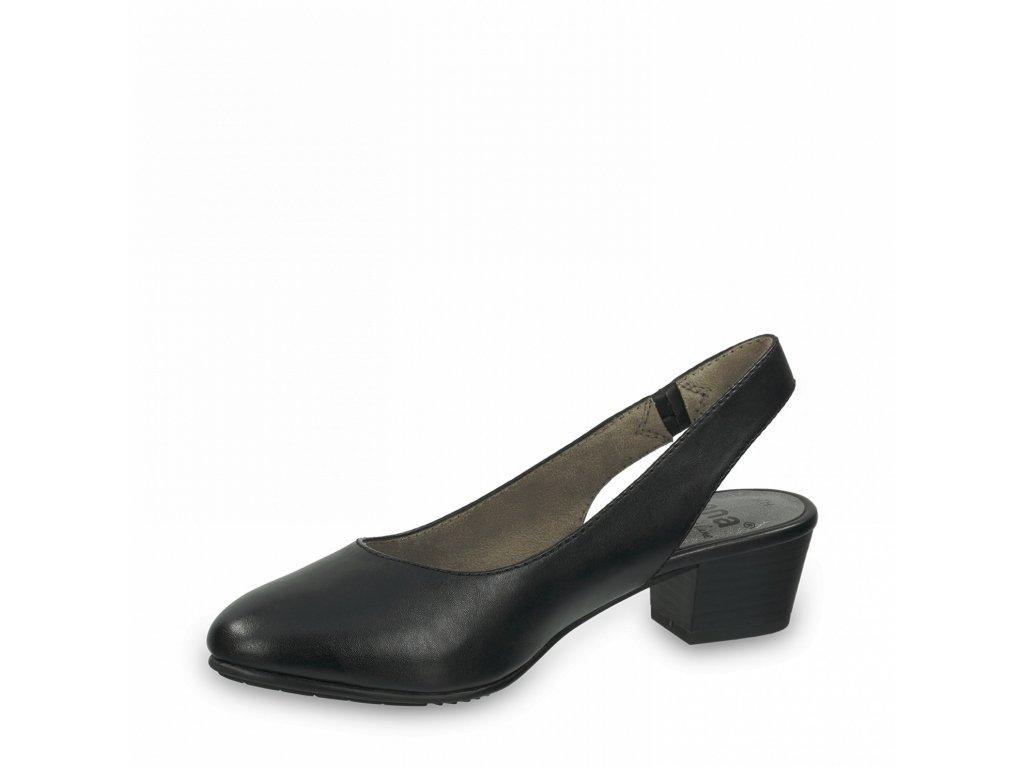 Dámská obuv s volnou patou Jana DC 8-29561/26 černá