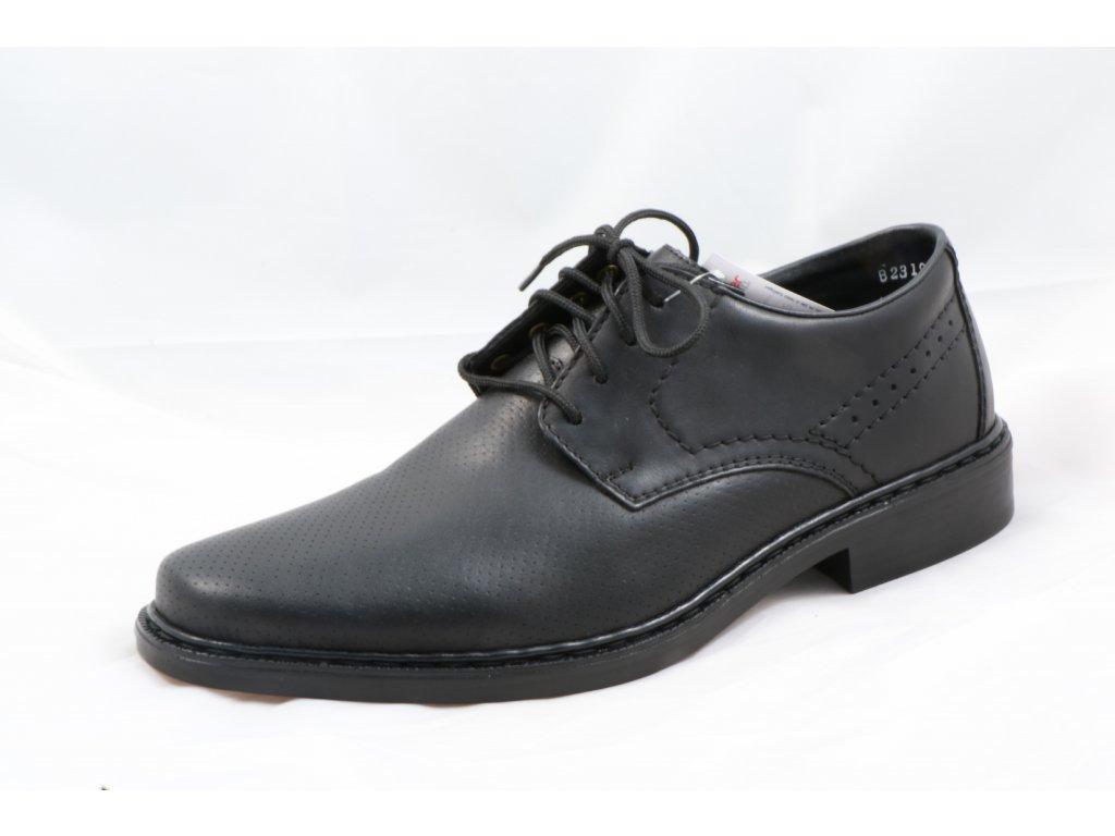 Pánské společenské boty Rieker B2319-00 (Barva černá, Velikost 45)