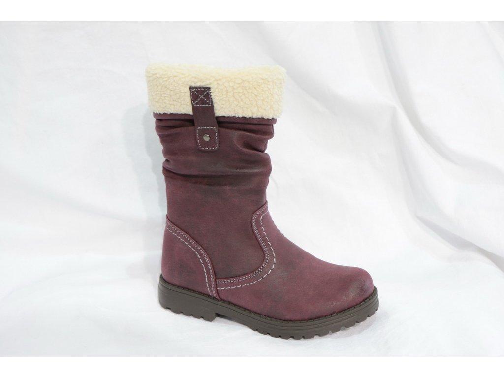 Dětské boty BX7A370-12-1 (Barva Fialová, Velikost 25)