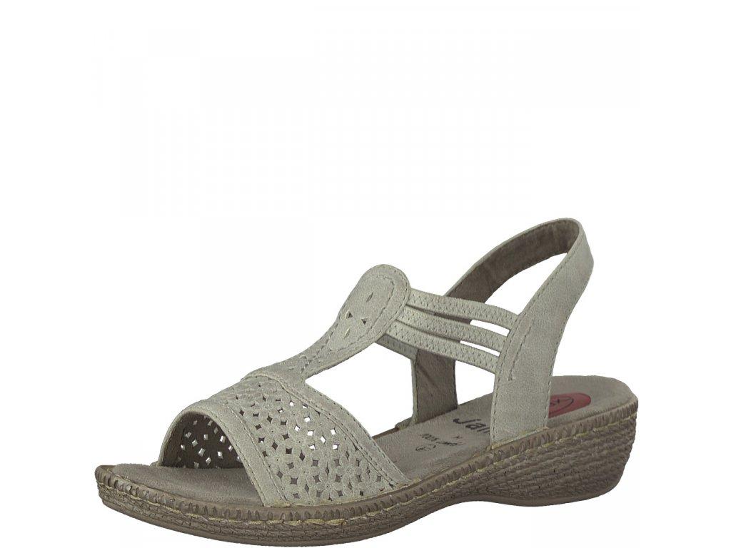 Dámské sandály Jana 8-28106/20 (Barva šedá, Velikost 42)
