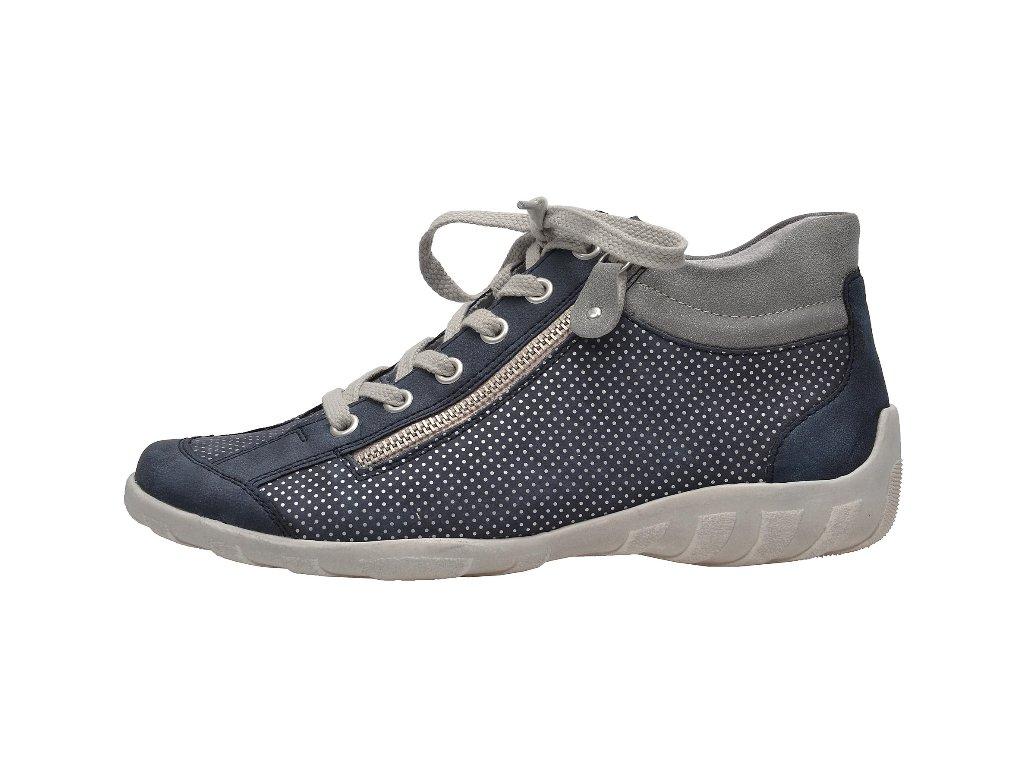 Dámské boty Rieker R3487-14 (Barva Modrá, Velikost 42)