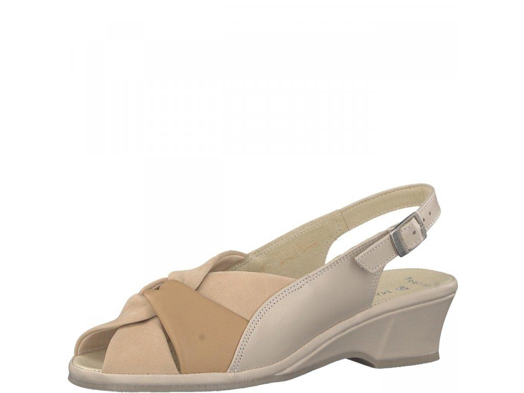 Dámské sandály Marco Tozzi 2-28910/20 (Barva béžová, Velikost 40)