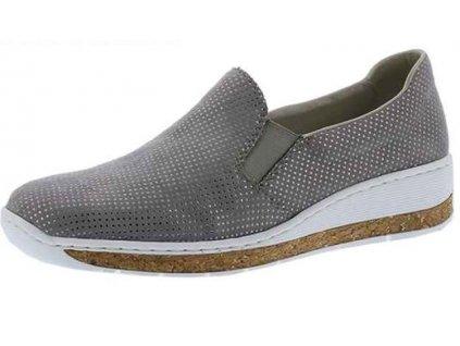 Dámské boty Rieker 59766-42 (Barva šedá, Velikost 42)