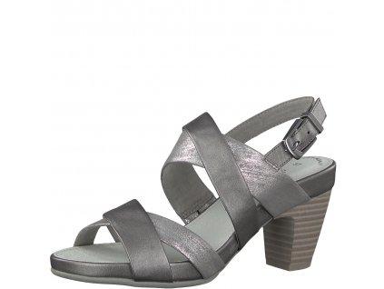 Dámské sandály s.Oliver 5-28304/20 AKCE (Barva stříbrná, Velikost 41)