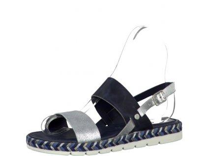 Dámské sandály 2-28139/28 (Barva Modrá, Velikost 42)