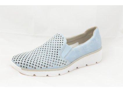 Dámské polobotky Rieker 537A6-10 (Barva Modrá, Velikost 42)