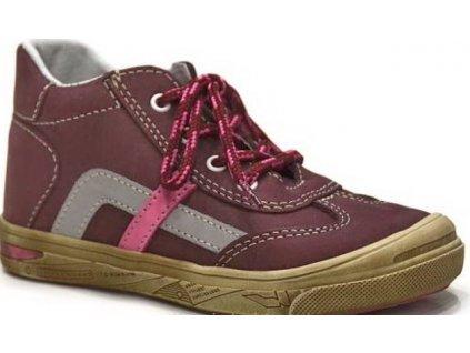 Dětské boty AC 014/MAZ červená AKCE (Barva červená, Velikost 25)