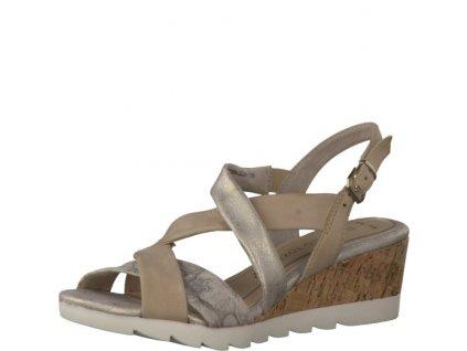 Dámské sandály Marco Tozzi 2-28706/28 (Barva béžová, Velikost 40)