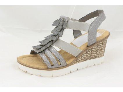 Dámské sandály Rieker 65505-42 (Barva šedá, Velikost 40)