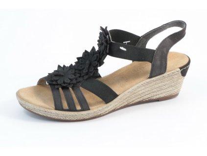 Dámské sandály Rieker 62461-00 (Barva černá, Velikost 41)