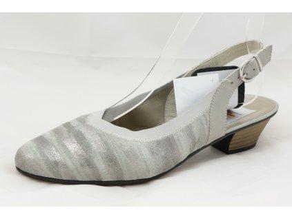 Dámské letní lodičky Rieker 58063-90 (Barva šedá, Velikost 41)