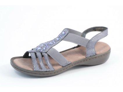 Dámské sandály Rieker 60813-12 (Barva Modrá, Velikost 41)