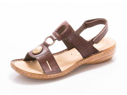 Dámské sandály Rieker 60874-26 (Barva hnědá, Velikost 42)