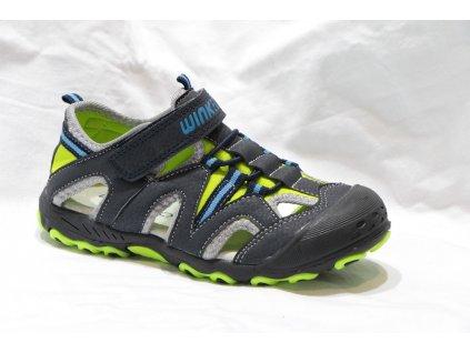 Dětské sandálky S981807-1-2 (Barva šedá, Velikost 35)