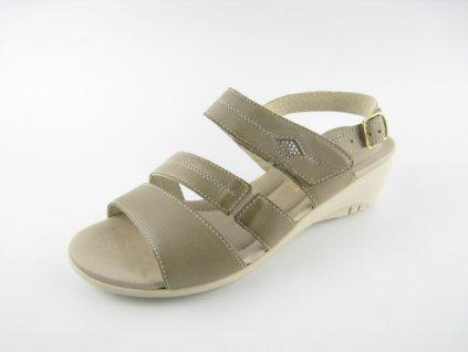 Dámská obuv DL 242085 kožená AKCE (Barva béžová, Velikost 41)