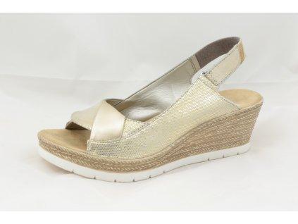 Dámské sandály Rieker 61972-90 (Barva zlatá, Velikost 40)