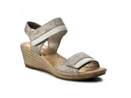 Dámské sandály Rieker 62470-64 (Barva šedá, Velikost 40)